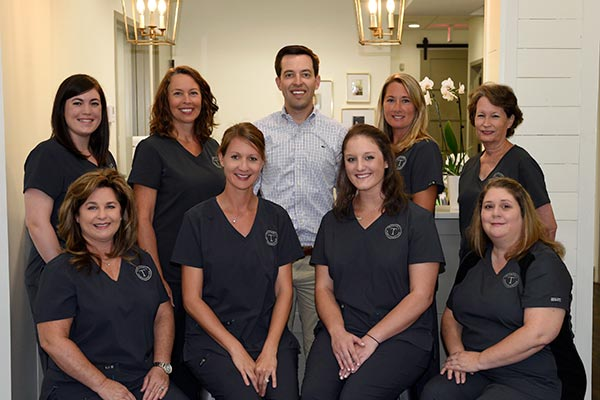 montgomery periodontist dr. kyle trammell and his team